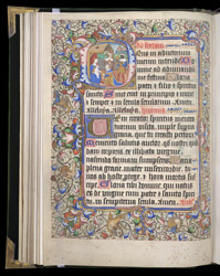 Historiated Initial With The Adoration Of the Magi, In A Book Of Hours